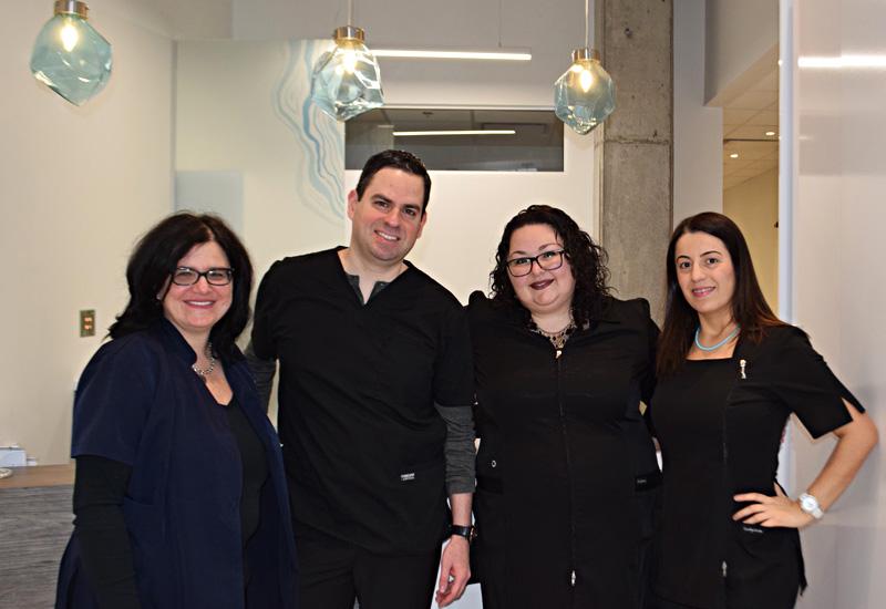 the team at dental clinic in Saint Leonard